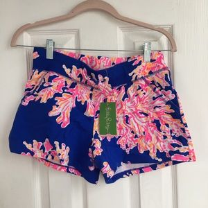Lilly Pulitzer soft coral shorts women's size xs